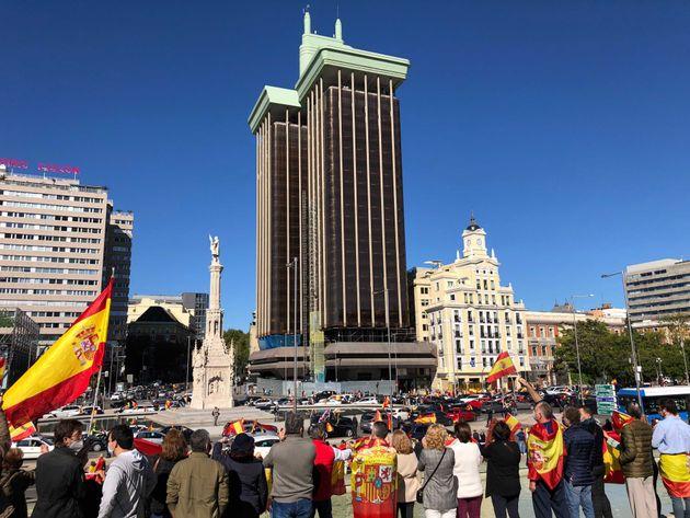 La manifestación, en la Plaza de