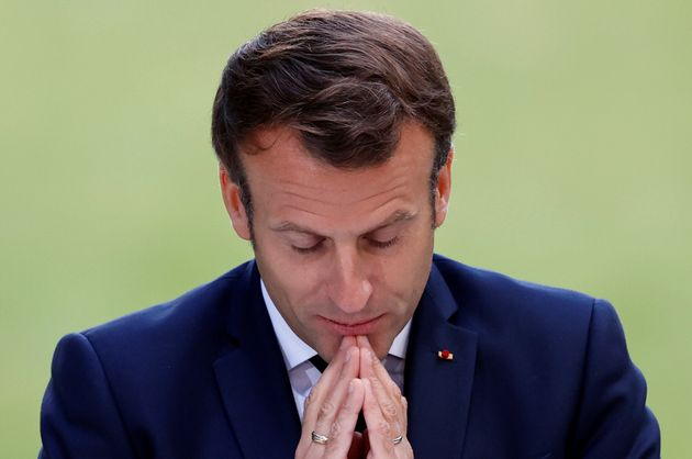 Emmanuel Macron s'adressant aux 150 membres de la Convention citoyenne pour le climat le 29 juin à...