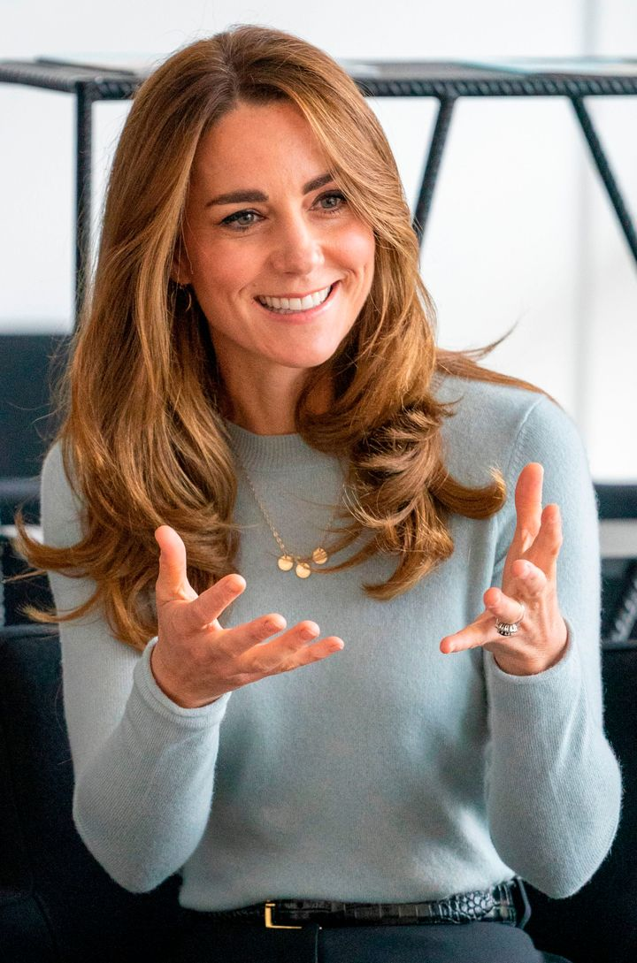 The Duchess of Cambridge during a visit to the University of Derby in Derby, England, on Oct. 6.