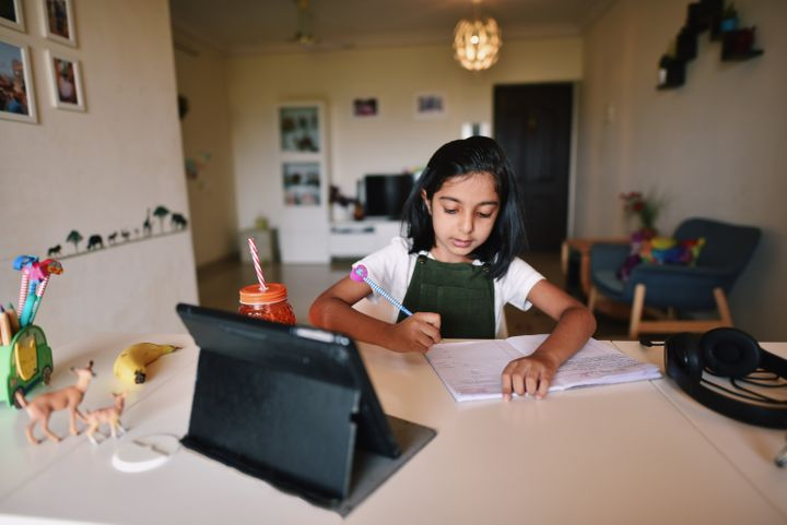 There are many reasons why a child who is not usually introverted at school would be shy in a remote learning setting.