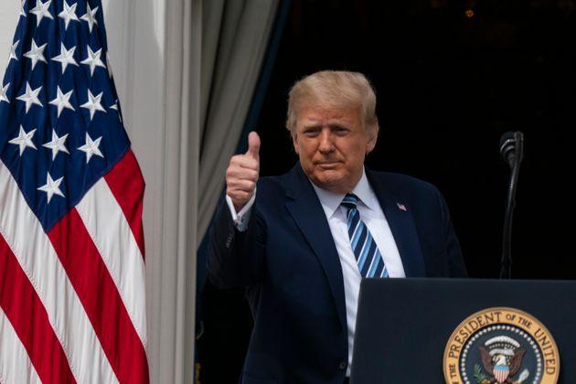 Donald Trump, ici le 10 octobre lors d'un évènement de campagne à la Maison Blanche...