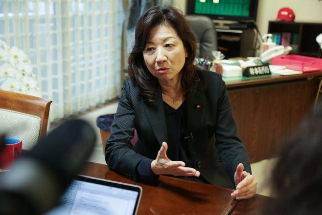 野田聖子・自民党幹事長代行(2020年10月9日、自民党本部)