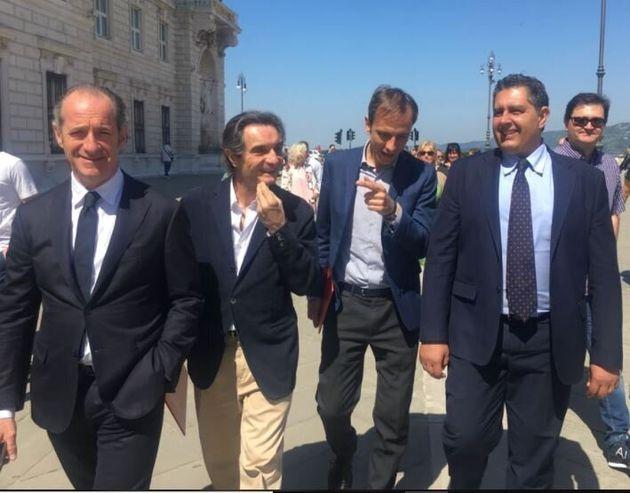 Zaia, Fontana, Fedriga e Toti a Trieste (foto