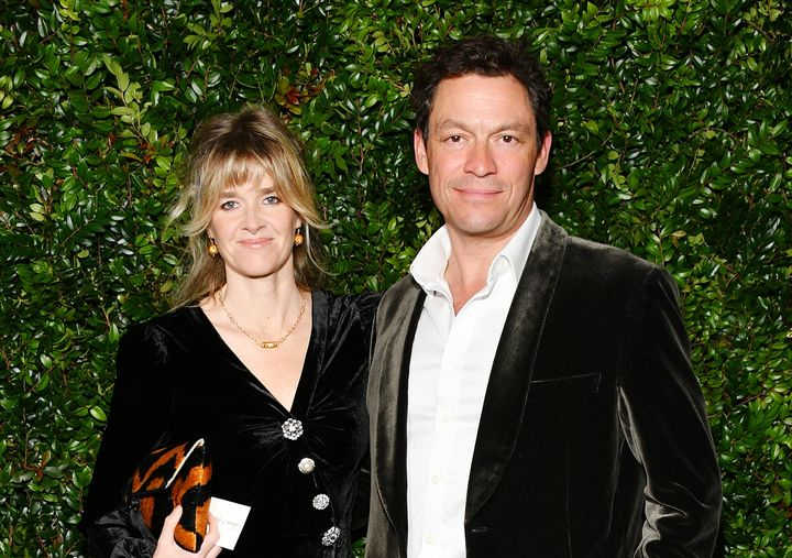 Dominic West and wife Catherine FitzGerald, pictured together in 2019.