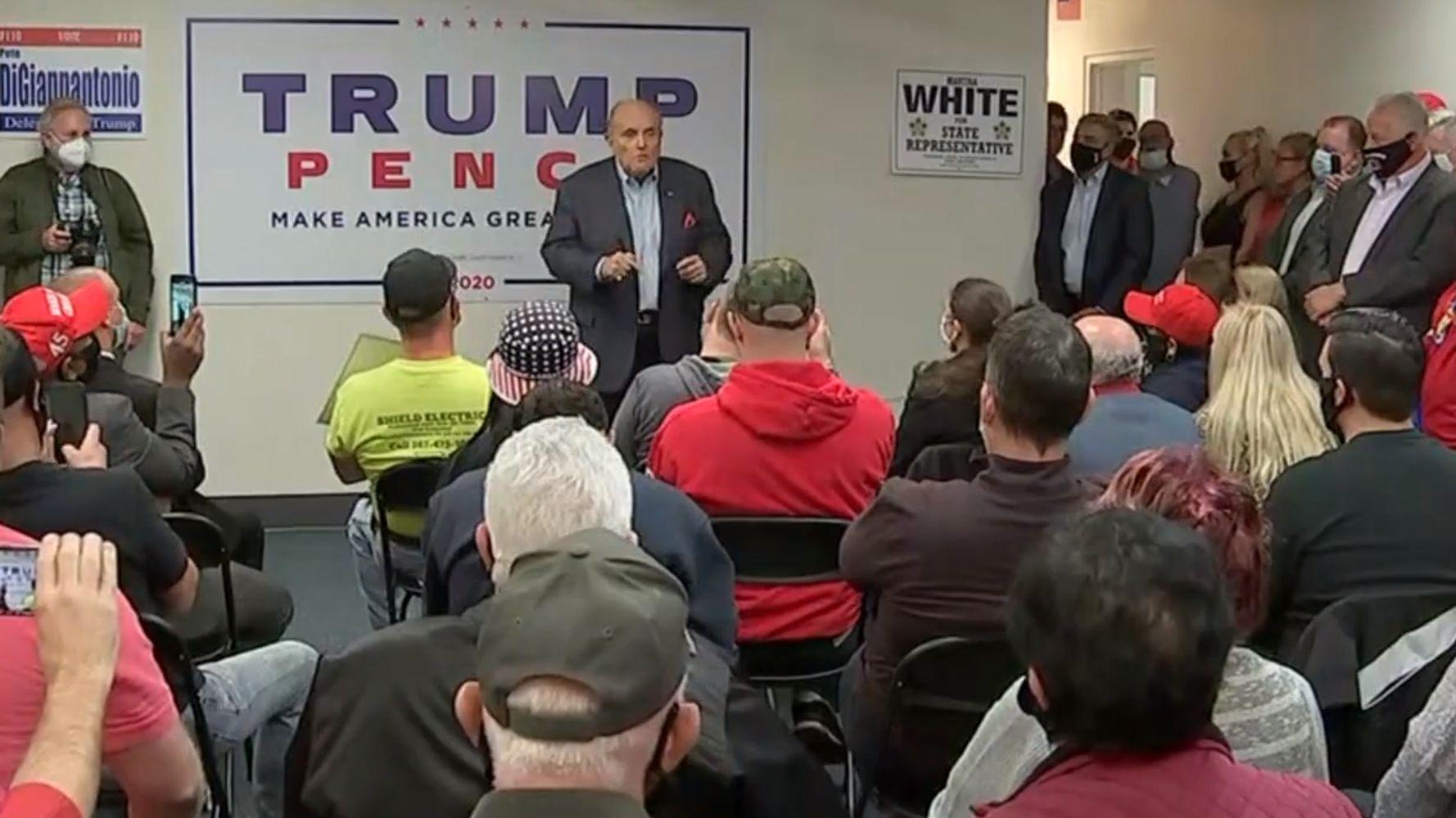 Rudy Giuliani Tells Trump Supporters 'People Don't Die' Of Coronavirus Anymore