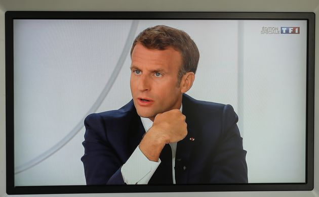 L'interview d'Emmanuel Macron (ici depuis l'Élysée le 14 juillet) sur TF1 et France 2 ce mercredi commencera...