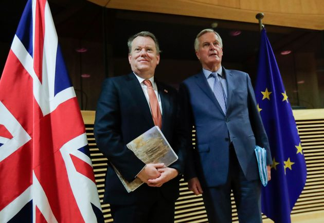 UK chief negotiator Lord David Frost, left, and Barnier, right, will be reunited for negotiations