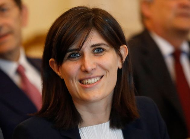 FILE - In this Thursday, June 29, 2017 file photo, Turin's Mayor Chiara Appendino speaks to guests at...