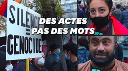 Un millier de manifestants exhortent Macron à