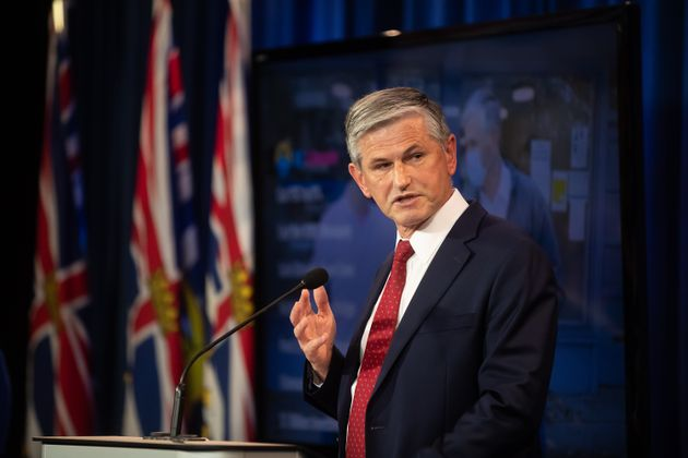 BC Liberal Party Leader Andrew Wilkinson speaks to reporters in Vancouver on Oct. 13,