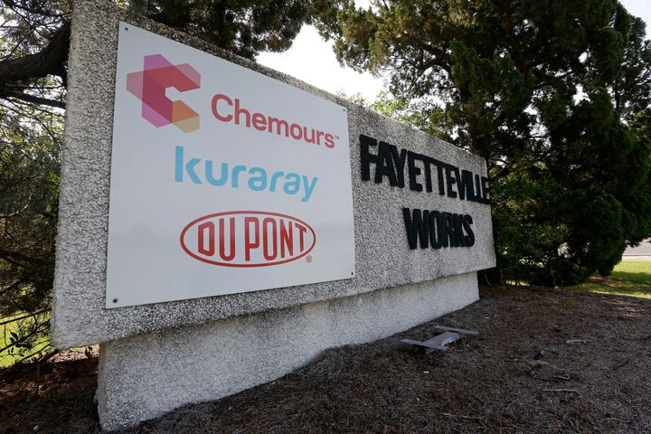 The Fayetteville Works plant where Chemours manufactures a chemical that has entered the Cape Fear River, a source of drinkin