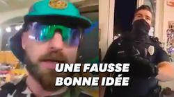 Ce happening anti-masque a coûté une arrestation et sa chaîne YouTube à ce troll