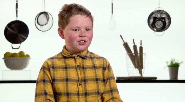 'Junior MasterChef Australia' contestant Ben Bolton