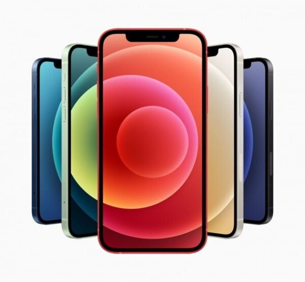 애플 '아이폰12'는 화이트 블랙 레드 그린 블루 5가지 색상으로