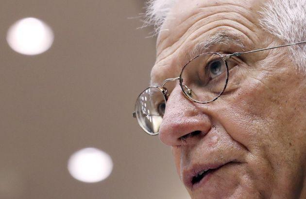 Josep Borrell, en la sede de Bruselas del Parlamento Europeo, el pasado 7 de