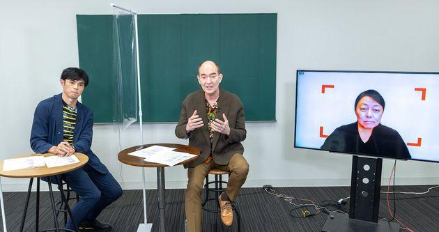 (左)お笑い芸人 小島よしおさん、(中央)日本文学研究者 ロバート キャンベルさん、(右)株式会社LIFULL 代表取締役社長
