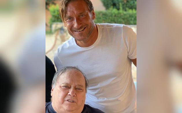 Francesco Totti col padre