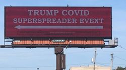 Billboard Warns Iowans That Trump Rally Will Be 'COVID Superspreader