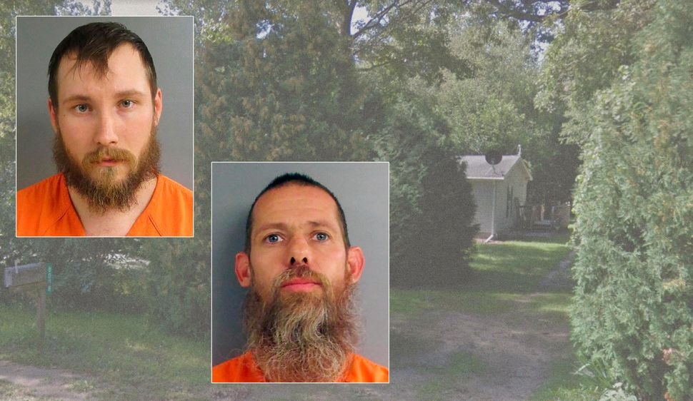 Joseph Morrison (left) and Pete Musico lived at a house in Munith, Michigan, that is alleged to have been a training site for
