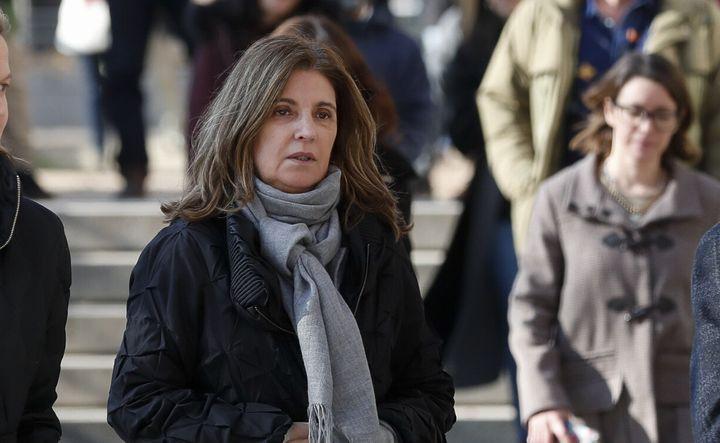 Rosalía Iglesias, yendo a declarar por la Operación Kitchen.