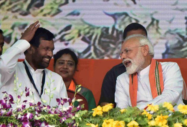 Prime Minister Narendra Modi with Ram Vilas Paswan in a file