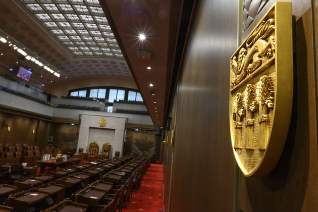 The Senate of Canada chamber is pictured in Ottawa on Feb. 18,