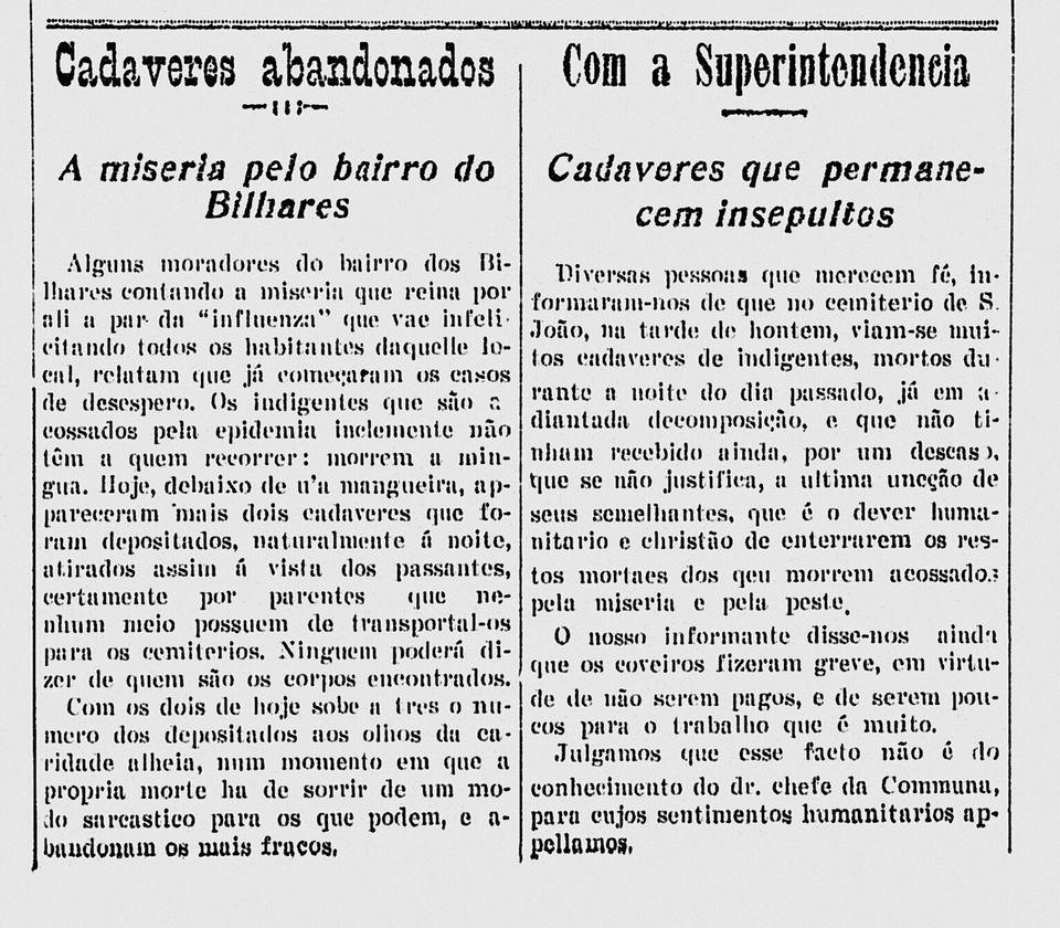 O jornal Imparcial, em 14 de novembro de 1918, portanto imediatamente antes das eleições,...