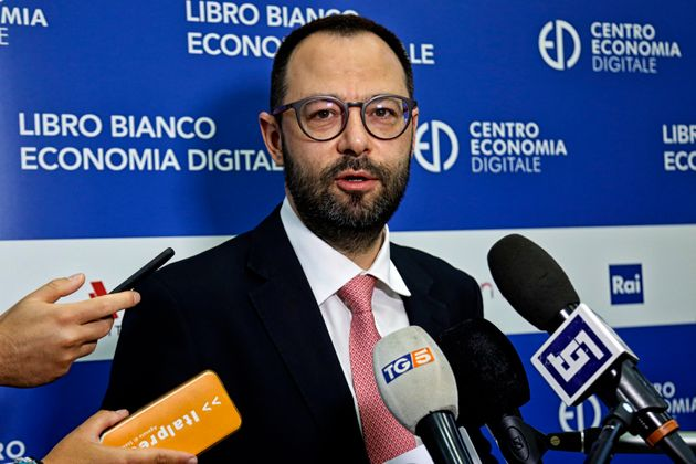 The Minister of Economic Development Stefano Patuanelli during the presentation of the white book of...