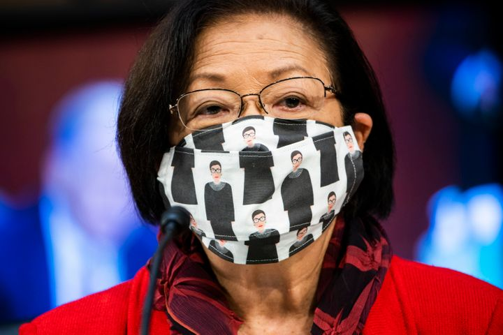 Sen. Mazie Hirono on Tuesday, the second day of Supreme Court confirmation hearings.