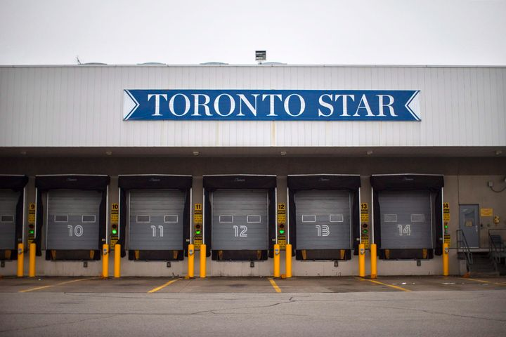 The Toronto Star's Vaughan printing plant is pictured on Jan. 15, 2016.