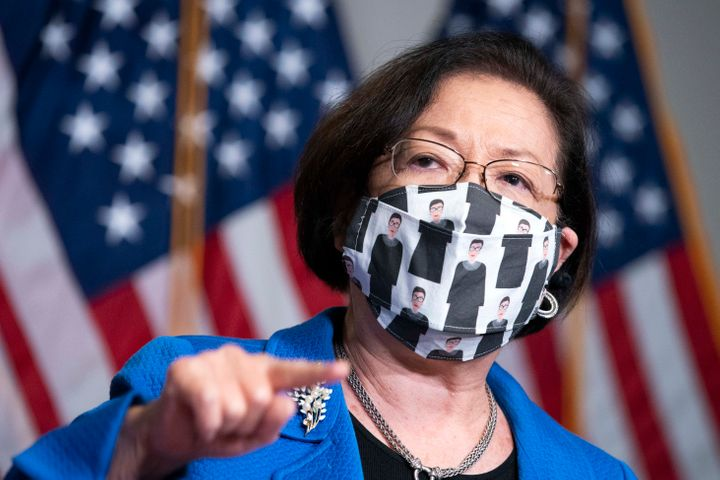 Hirono at a news conference on Monday after the confirmation hearings.