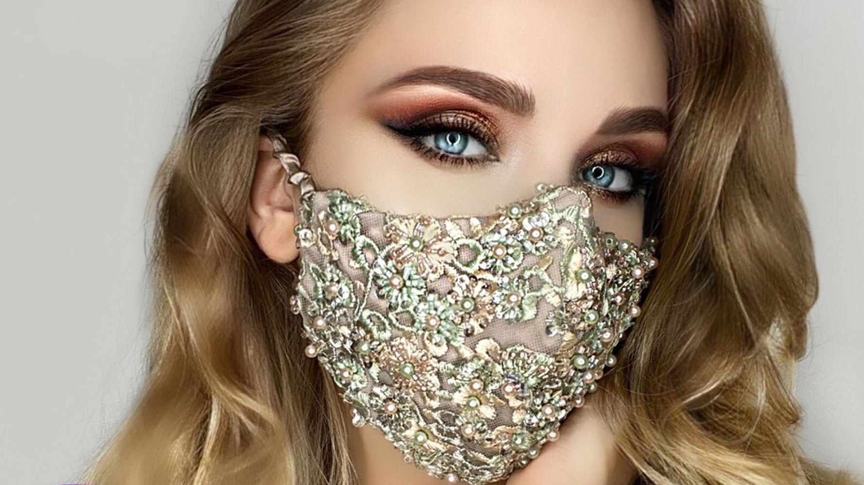 10 Beautiful Wedding Face Masks For Brides To Wear On Their Big Day