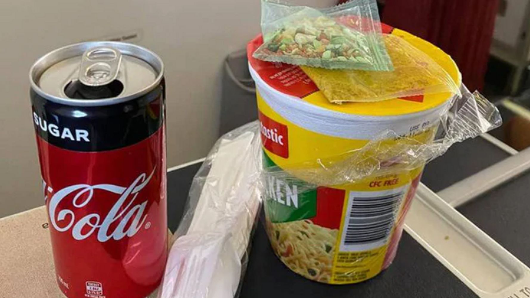 Virgin Australia Business Class Passenger Outraged Over 80-Cent Instant Noodle Meal