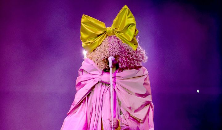 Sia performs onstage for the 2020 Billboard Music Awards, broadcast on October 14, 2020, at the Dolby Theatre in Los Angeles.