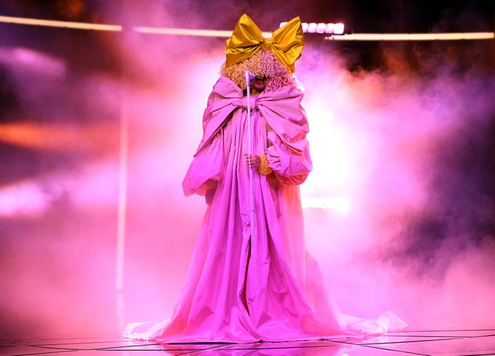 Sia performs at the 2020 Billboard Music Awards, broadcast Wednesday from the Dolby Theatre in Los Angeles.