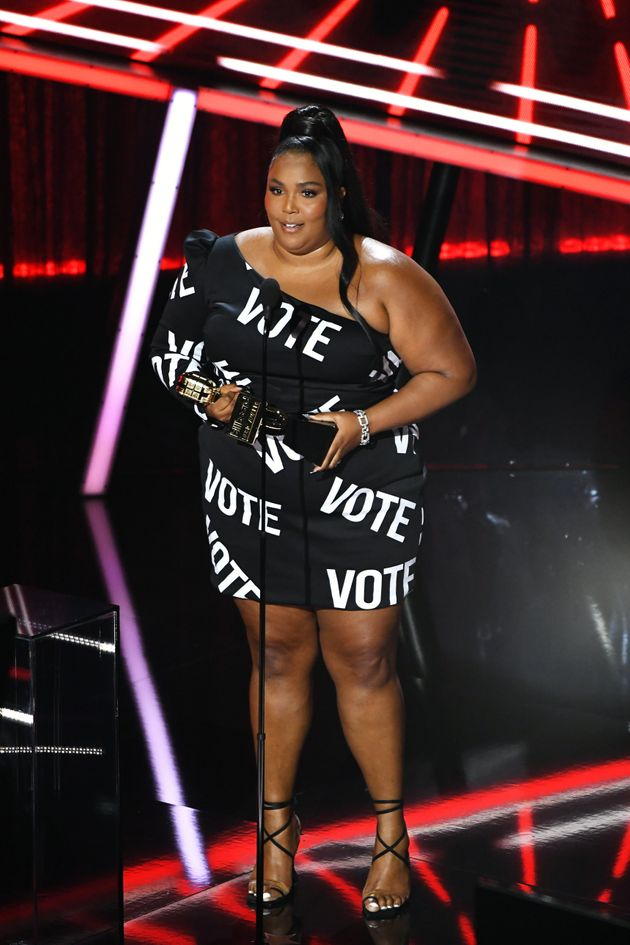 Lizzo accepts the Top Song Sales Artist honor at the 2020 Billboard Music Awards on Wednesday in Los