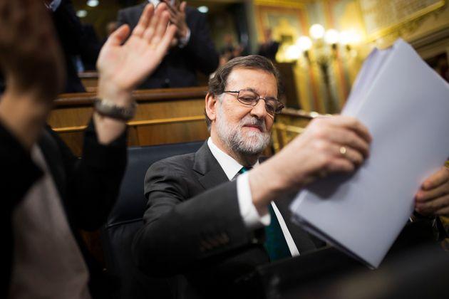 Mariano Rajoy, en el primer día de la moción de censura el 31 de mayo de 2018 (AP Photo/Francisco