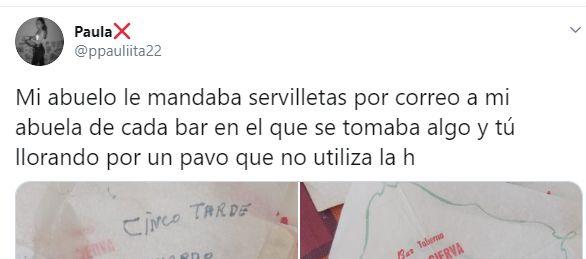 Una tuitera comparte las cartas que enviaba su abuelo a su