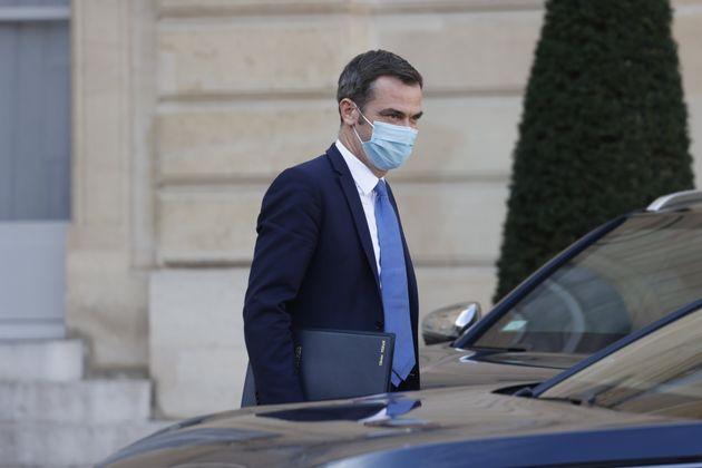 Olivier Véran, ici à l'Élysée à Paris, le 14 octobre