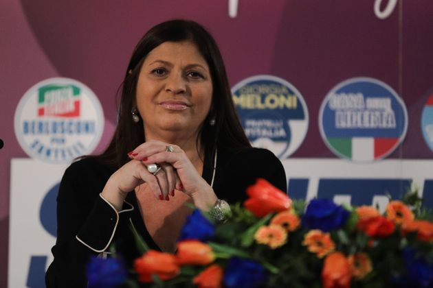 Jole Santelli attends a conference on January 23, 2020 in Lamezia Terme (CZ) ahed of the calabrian regional...