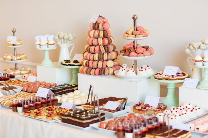 Delicious candy bar for wedding