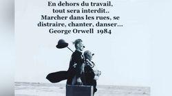 Cette citation apocalyptique de George Orwell tourne partout sauf