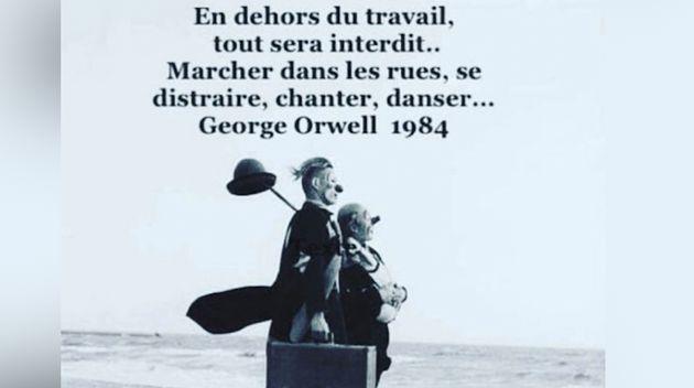 Cette image et cette citation attribuée à George Orwell tournent sur les réseaux...