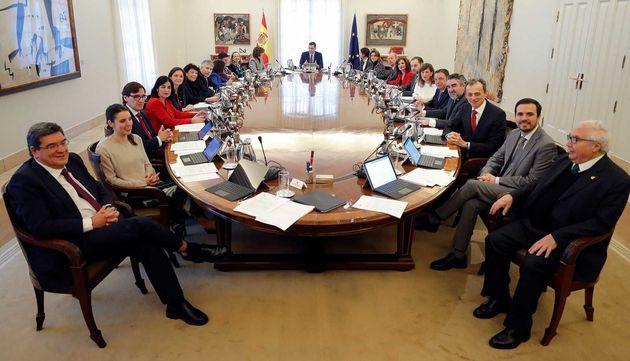 Una imagen de archivo de un Consejo de ministros de