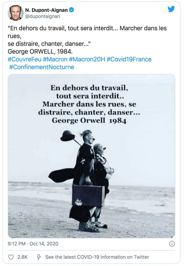 Capture d'écran du tweet de Nicolas