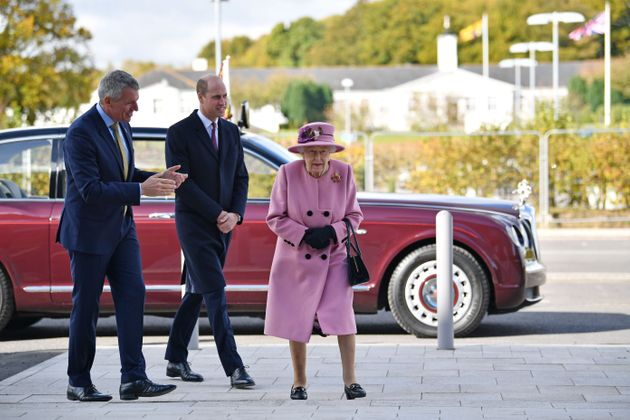 The royals speak with Dstl Chief Executive Gary Aitkenhead during their visit to the Defence Science...