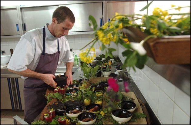 Dans les cuisines du restaurant