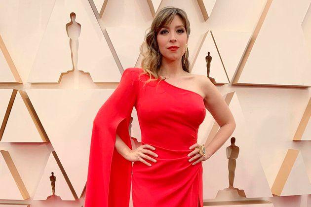 Gisela en la alfombra roja de los Oscar