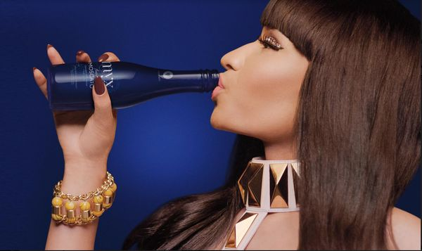 "Rapper Nicki Minaj is bubbling over with excitement about her <a href=""https://myxfusions.com/all-products/moscato/"" target="""