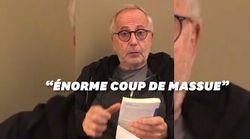 Fabrice Luchini rend hommage aux restaurateurs face au